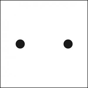 2 points noirs - stéréogrammes
